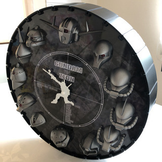 ガンダム3D掛け時計 メタルカラー