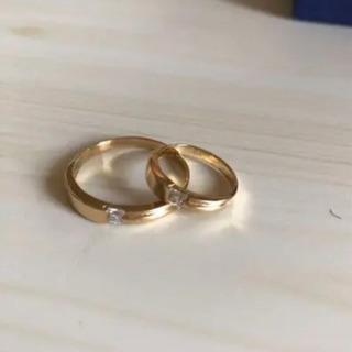 18K ❤️ 指輪ペア 2個セット