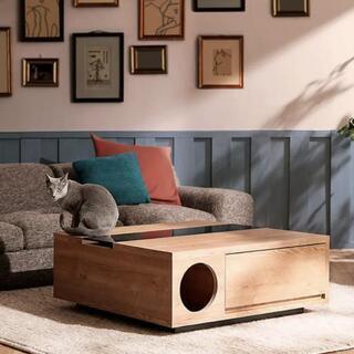 【ネット決済】ローテーブル 猫テーブル
