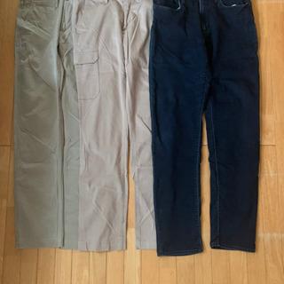 GU(ジーユー)メンズ パンツ3本 Mと73㎝