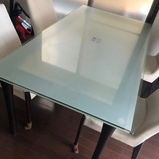 【ネット決済】ガラステーブルセット