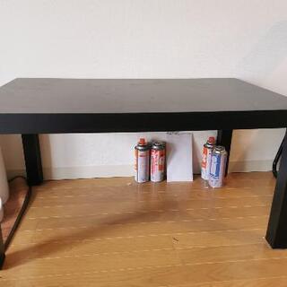 【ネット決済】IKEA LACKブラックブラウン  コーヒーテー...
