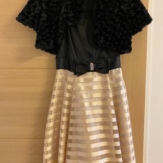 パーティ用ドレス&ファーボレロ