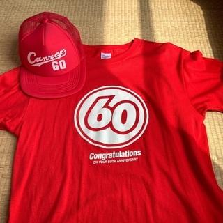 還暦祝いの赤い60Tシャツ&CAP