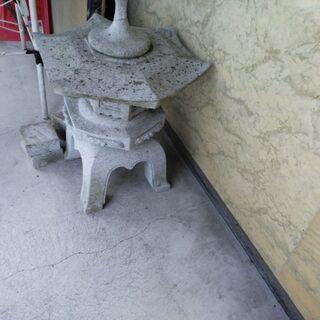 庭に置く 石造りのオブジェ(中古)