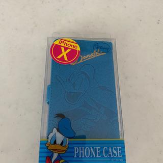 【新品・未使用】iPhoneX 手帳型カバー ドナルド