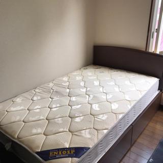 セミダブル ベッド 引き出し付き マットレス ニトリ
