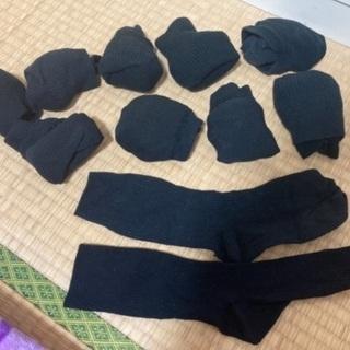 靴下 黒 ソックス 10足 24.5