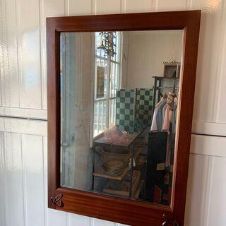 木製フレーム鏡(4)