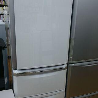 (大容量な冷凍室の)三菱電機 3ドア冷蔵庫370L 2014年製...