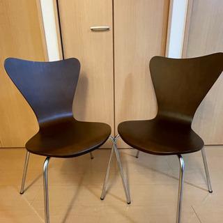 【2つセット売り】椅子(ダイニングチェア)