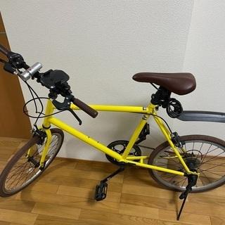 【美品】ミニベロ自転車(イエロー)