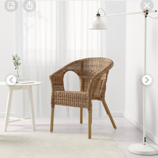 IKEA アーゲンチェア 籠 ラタン