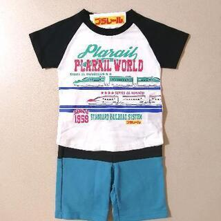 新品 新幹線 半袖Tシャツ 90cm プラレール ツートンカラー...