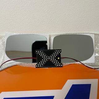 フィットGE6 ブルーレンズサイドミラー&流れる鏡面ウインカー セット