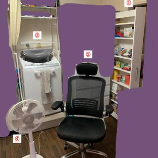 洗濯機、収納、ガスコンロ、分別ダストボックスなど色々売ります。