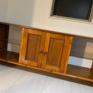 北欧家具 ガラス付テレビボード
