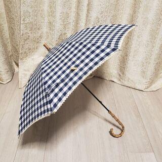 ビコーズ傘 (because長傘ギンガムチェック柄・晴雨兼用)日...