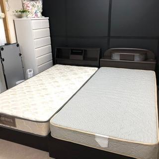【ネット決済】シングルベッド2種 (マットレス付き)