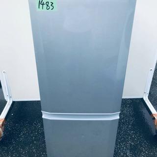 1483番 三菱✨ノンフロン冷凍冷蔵庫✨MR-P15S-S…