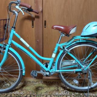 24インチ自転車 ヘルメット付き