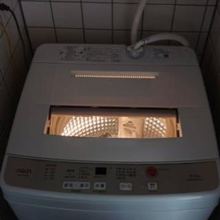 【ネット決済】AQUA 全自動洗濯機 AQW-S60G(W)