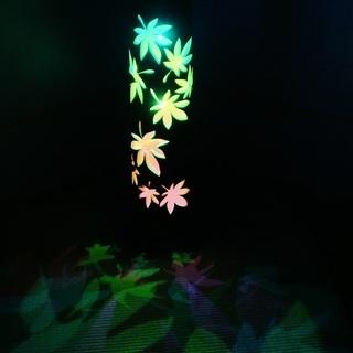 【ネット決済・配送可】竹ランプ 〜〜紅葉季節の移ろい〜〜