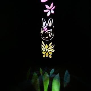 【ネット決済・配送可】竹ランプ 〜〜狐面〜〜 竹灯籠 竹灯り