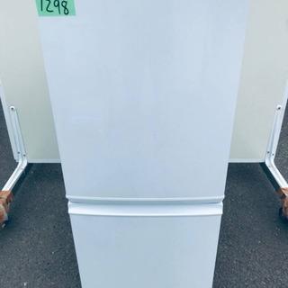 ①1298番 シャープ✨ノンフロン冷凍冷蔵庫✨SJ-D14A-W‼️