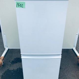①1302番 シャープ✨ノンフロン冷凍冷蔵庫✨SJ-D14A-W‼️