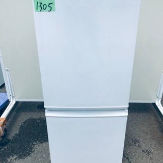 ①1305番 シャープ✨ノンフロン冷凍冷蔵庫✨SJ-D14A-W‼️