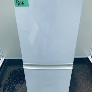 ①1306番 シャープ✨ノンフロン冷凍冷蔵庫✨SJ-D14A-W‼️
