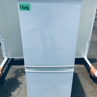①1308番 シャープ✨ノンフロン冷凍冷蔵庫✨SJ-D14A-W‼️