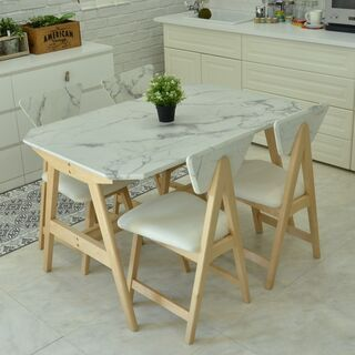 ■ダイニングテーブル 大理石調 長方形■
