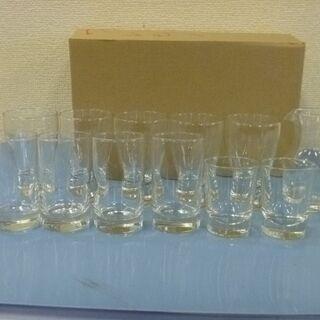 JM11543)ガラスグラス 4種12個 中古品【取りに来られる...