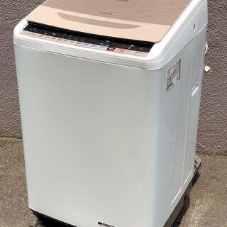 ㊼【6ヶ月保証付・税込み】日立 8kg 全自動洗濯機 ビートウォ...