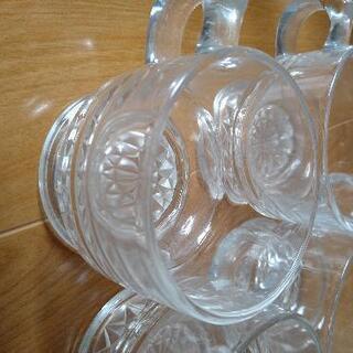 【ネット決済】切子ガラスカップ5客 未使用