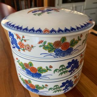 陶器 お重 3段セット お正月