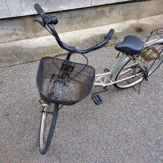 自転車(白)