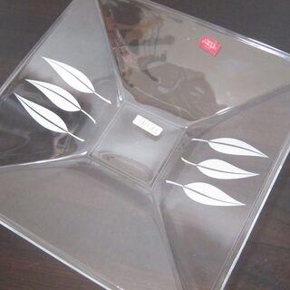 未使用☆四角いガラス皿 サラダ皿 Cristal D'arque...