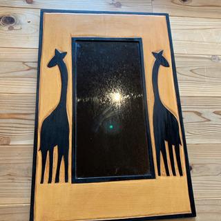 6月末まで!キリンの壁掛け鏡