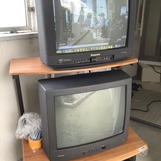 ¥0 ★ブラウン管テレビ2台ジャンク品★無料☆映りました