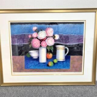 【未使用】絵画 アンジョリーナ・ラベルニア『青い敷物』 88×7...
