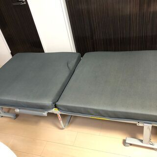 折りたたみ ベッド シングル カバー付 USED