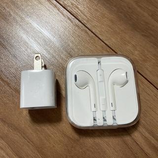【ネット決済・配送可】Apple純正品 イヤホンと電源アダプター