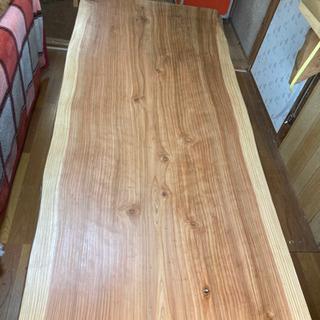 【ネット決済】杉 銘木 天板 206×max95 min81 板...