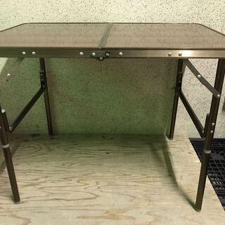 キャンプテーブル アウトドア 高さ変更可 折りたたみ可 幅90c...