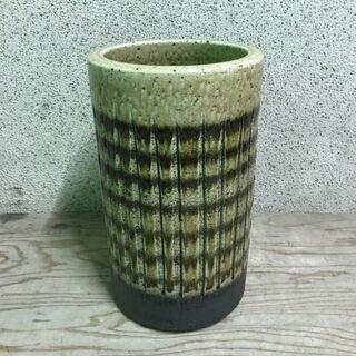 陶器製 傘立て 円筒 円柱 直径22cm×高さ38cm