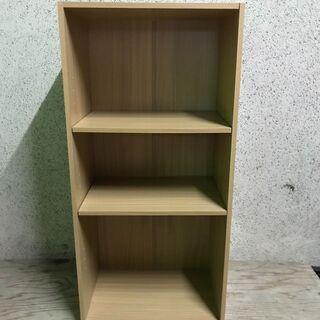 木製 3段 カラーボックス 本棚 収納棚 幅42cm×奥行29c...