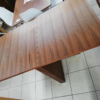 バタフライダイニングテーブル 伸縮テーブル 半折可能!